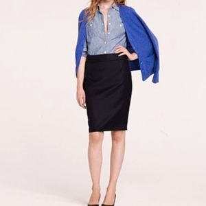 J.Crew The Pencil Skirt in Navy